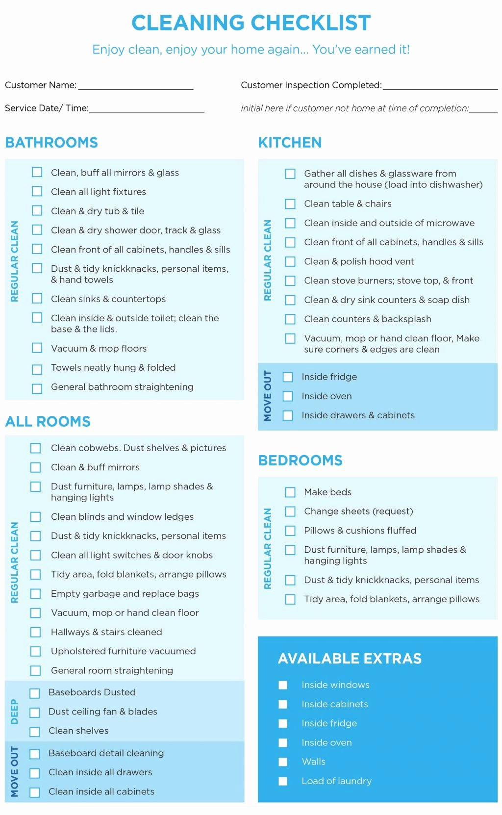 House Cleaning Checklist Template Elegant 40 Helpful House Cleaning Checklists for You