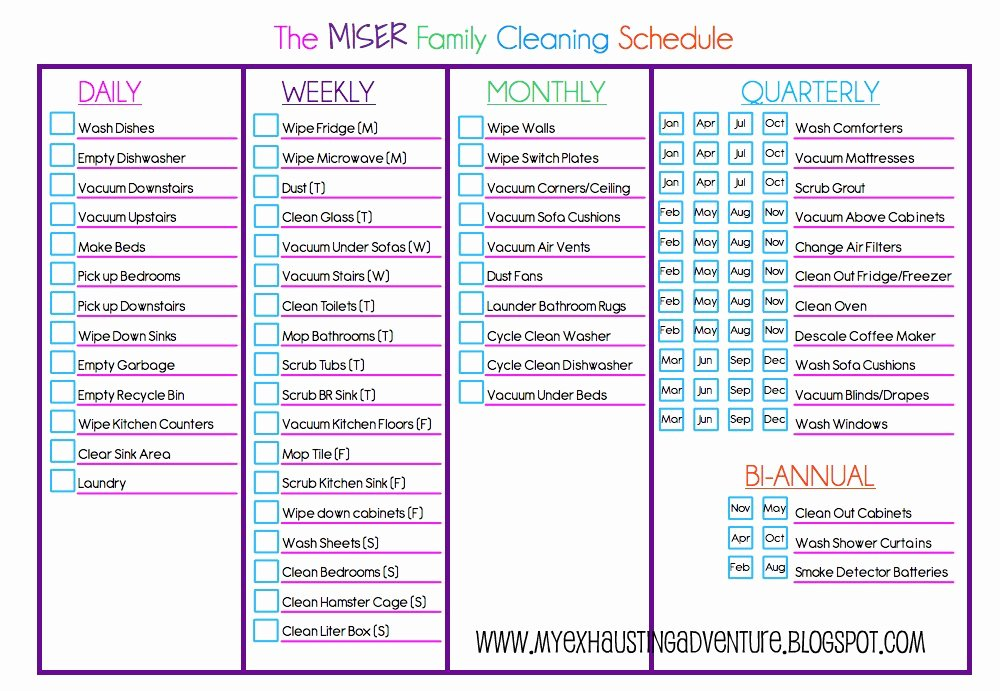 House Cleaning Checklist Template Elegant Julie S Exhausting Adventure Cleaning Checklist