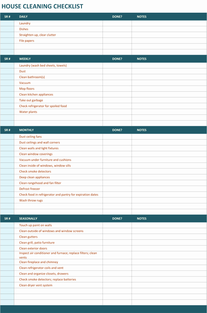 House Cleaning Checklist Template New Use This Free Printable House Cleaning Schedule A