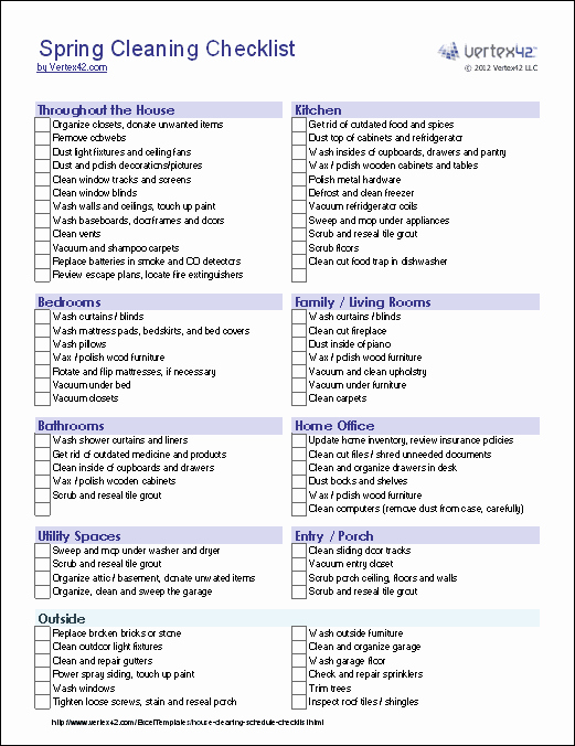 House Cleaning Price List Fresh Home Cleaning Checklist Printable – Jowo
