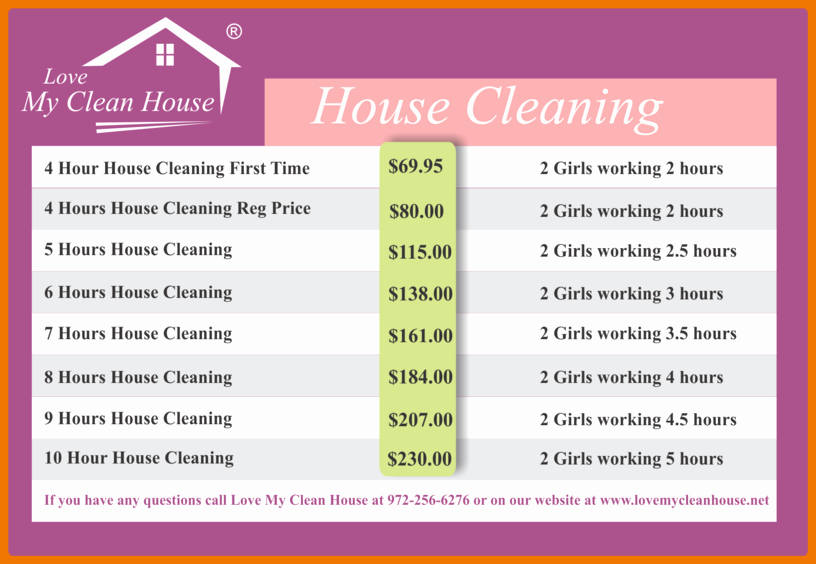 House Cleaning Price List Lovely Index Of Cdn 23 1993 674