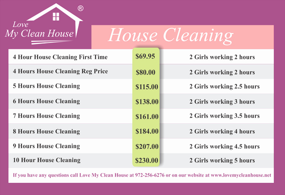 House Cleaning Price List Lovely June 2015 –