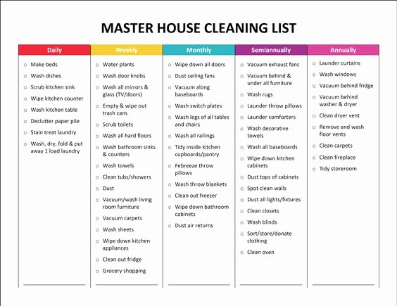 House Cleaning Price List Lovely Plete Housekeeping Printable Set