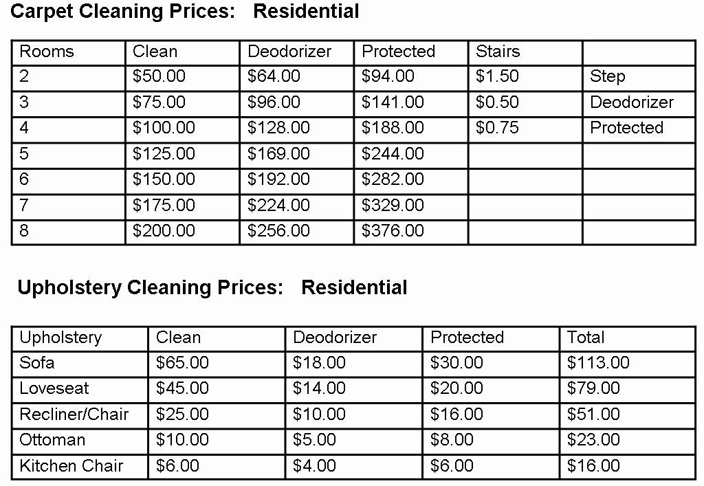House Cleaning Price List Luxury Carpet Cleaning Prices Myrtle Beach Sc