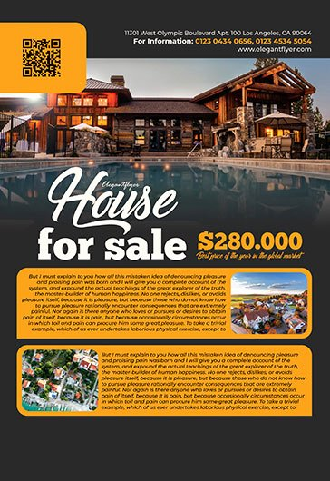 House for Sale Flyer Beautiful House for Sale – Free Psd Flyer Template Cover