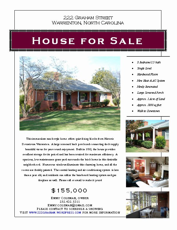 House for Sale Flyer Elegant Graphic Design