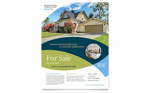 House for Sale Flyer Elegant Real Estate Flyer Templates & Design Examples