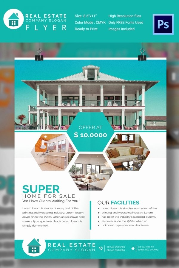 House for Sale Flyer Inspirational 15 Stylish House for Sale Flyer Templates & Designs
