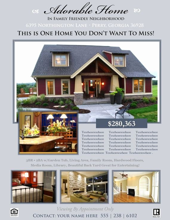 House for Sale Flyer Lovely Real Estate Flyer Template Microsoft Publisher Template