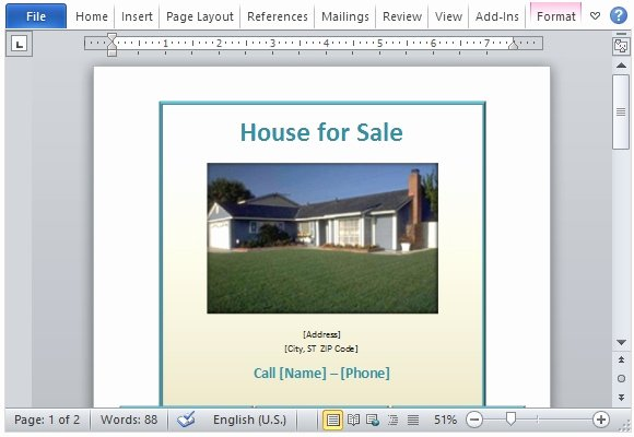House for Sale Flyer Luxury House for Sale Flyer Template for Word
