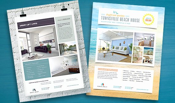 House for Sale Flyer Luxury Real Estate Flyer Templates Edit and Print