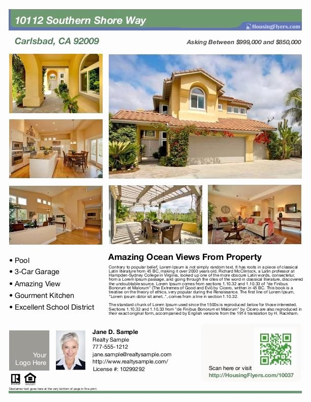 House for Sale Flyer Luxury Real Estate Flyer with 6 S Customize This Flyer with