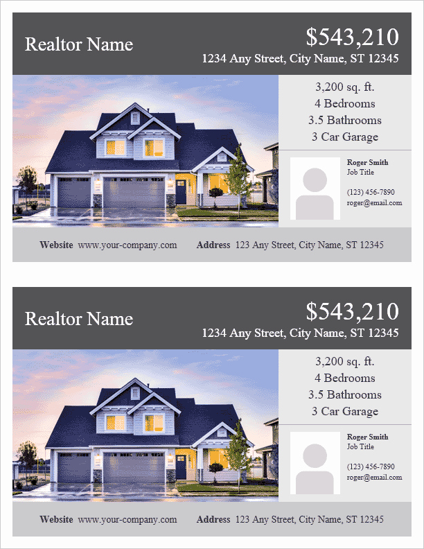 House for Sale Flyer New Real Estate Flyer Template for Word