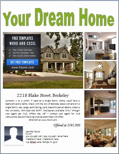House for Sale Flyer Unique Sample Real Estate Poster Template