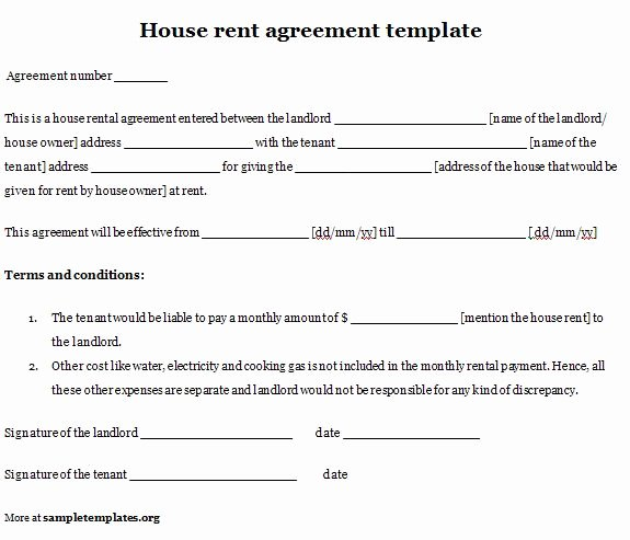 House Rental Agreement Template Awesome Simple Room Rental Agreement