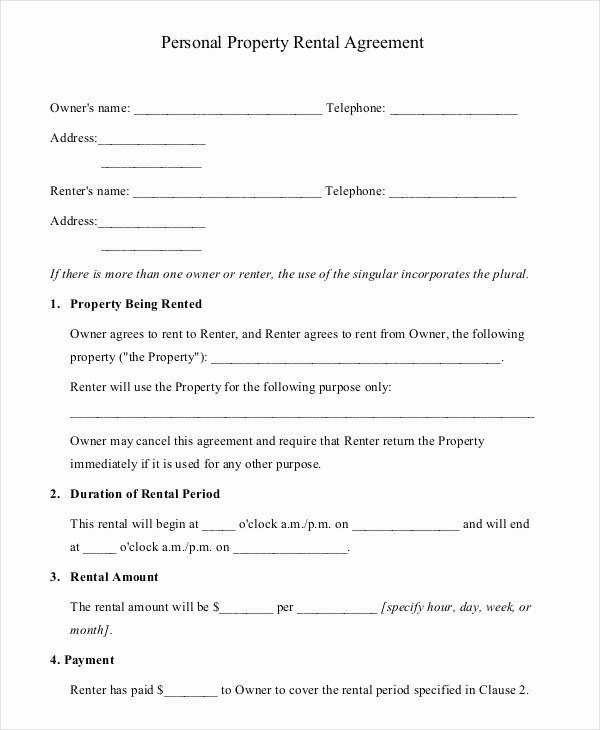 House Rental Agreement Template Beautiful 16 Property Rental Agreement Templates Doc Pdf