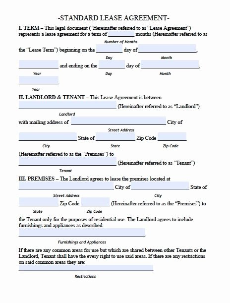 House Rental Agreement Template Best Of Printable Sample Residential Lease Agreement Template form