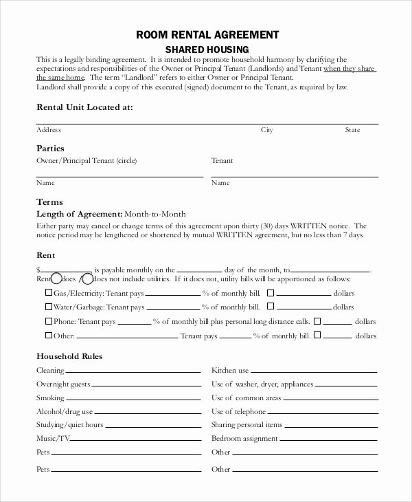 House Rental Agreement Template Elegant Sample Basic Rental Agreement 8 Examples In Pdf Word