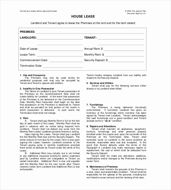 House Rental Agreement Template Luxury Rental Agreement format