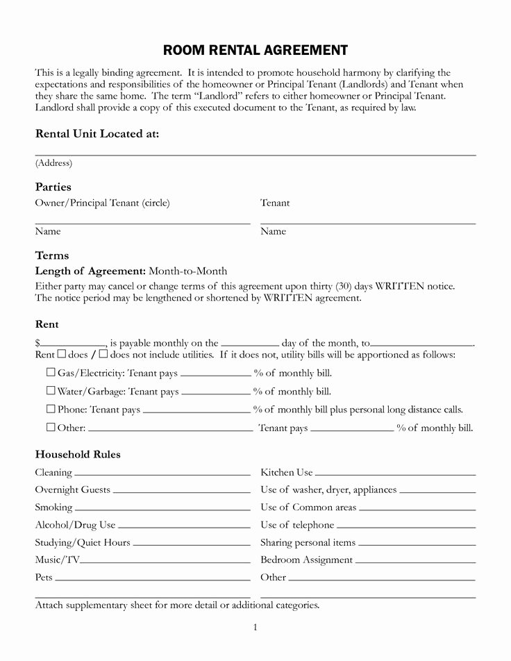 House Rental Agreement Template Unique 11 Best Rental Agreements Images On Pinterest