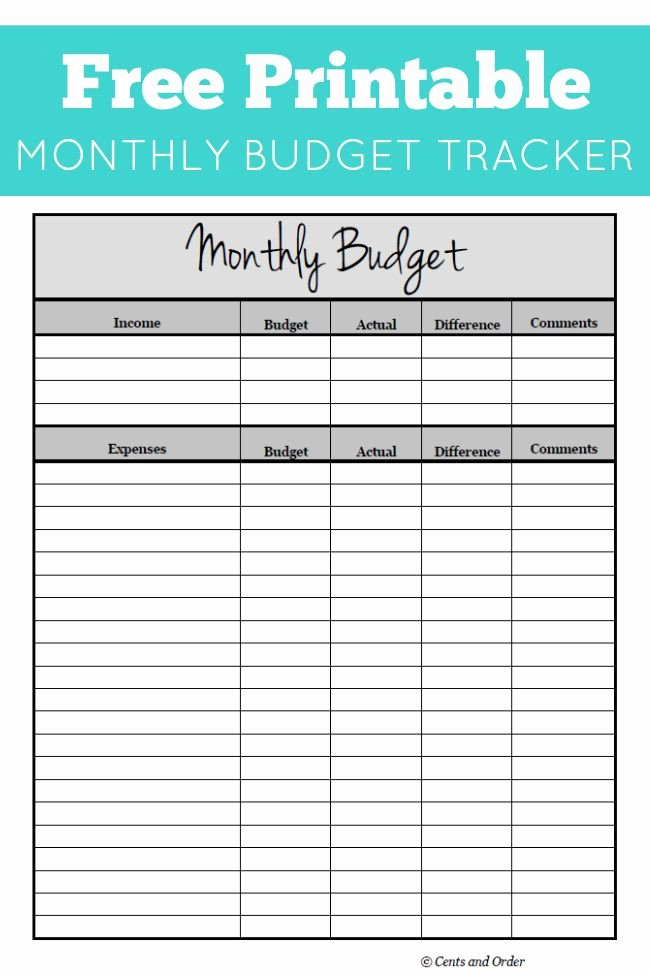 Household Budget Template Printable Awesome Free Monthly Bud Printable
