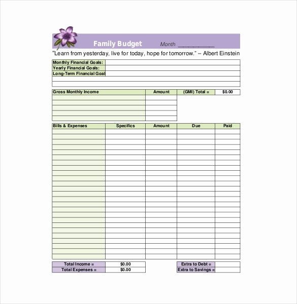 Household Budget Template Printable Awesome Household Bud Template