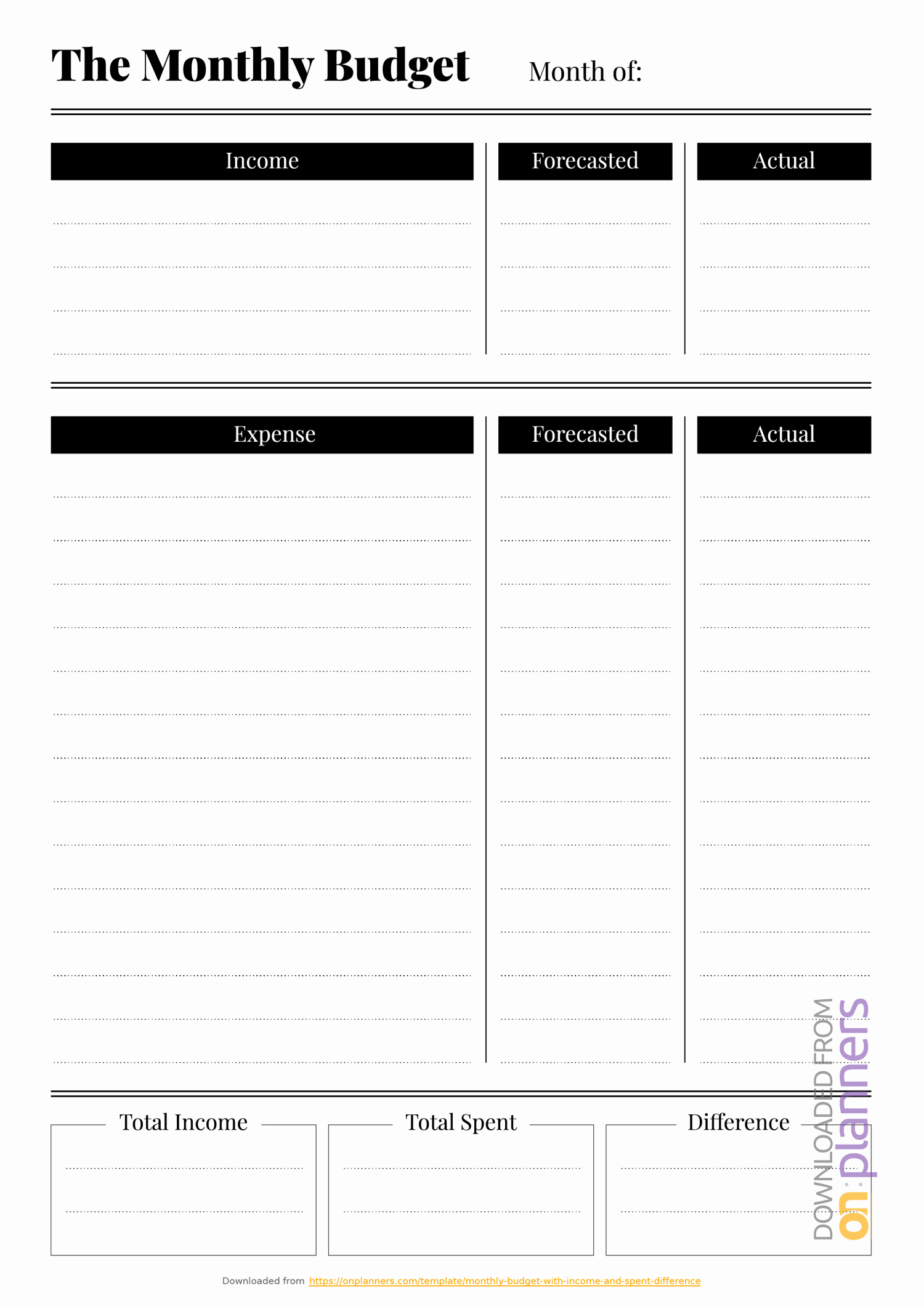 Household Budget Template Printable New Free Printable Bud Templates Download Pdf A4 A5