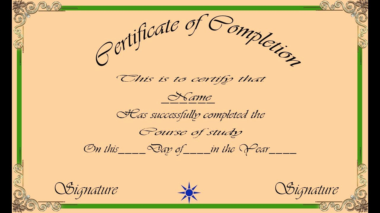 How to Make A Certificate Awesome How to Create A Certificate In Shop with Esubs