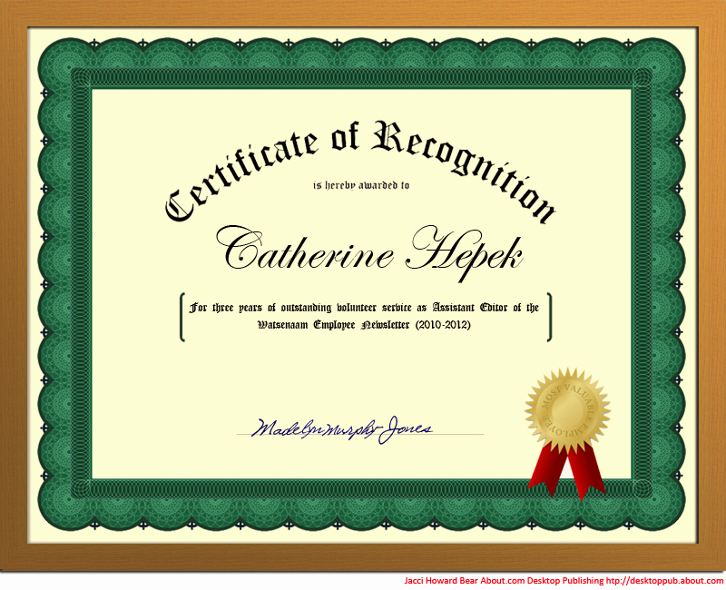 How to Make A Certificate Best Of You Can Create A Certificate Of Recognition In Word for