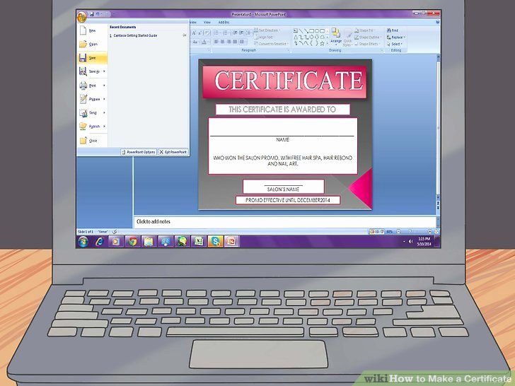 How to Make A Certificate Elegant 3 Ways to Make A Certificate Wikihow