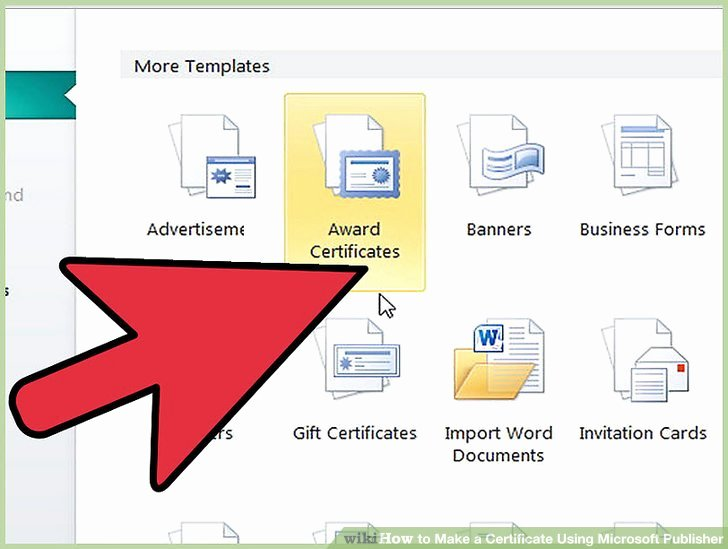 How to Make A Certificate Fresh How to Make A Certificate Using Microsoft Publisher 4 Steps