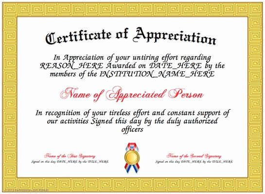 How to Make A Certificate Inspirational Appreciation Here is Our Free Appreciation Certificate