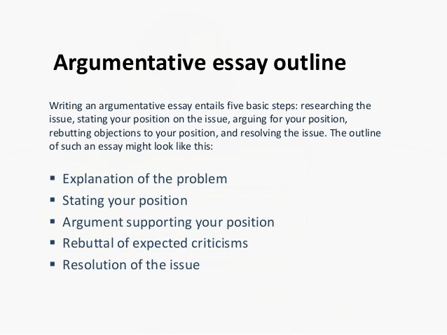 How to Outline An Essay Beautiful Argumentative Essay Outline
