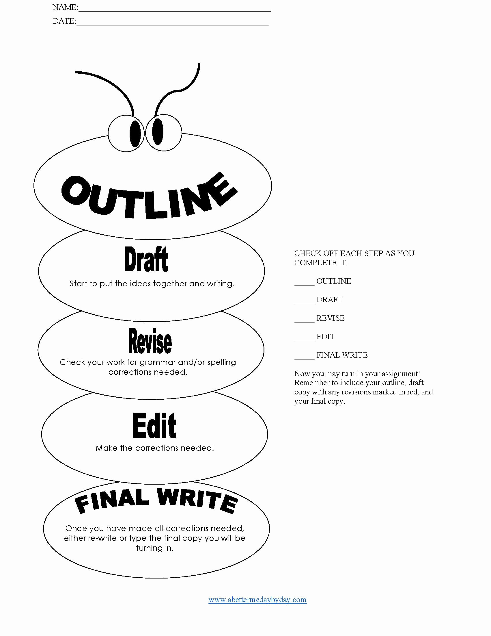 How to Outline An Essay Fresh 14 Best Of College Essay Outline Worksheet Essay