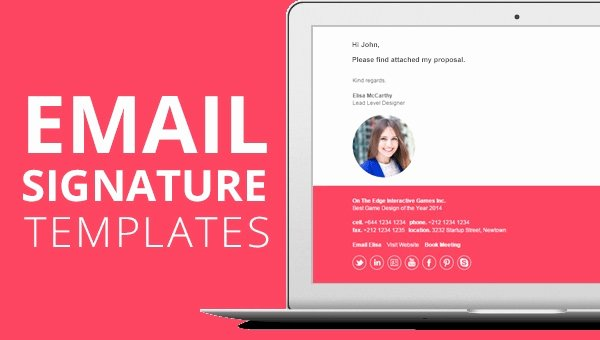 Html Email Signature Template Awesome 45 HTML Email Signatures HTML