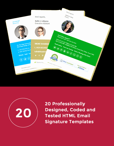 Html Email Signature Template Awesome Email Signature Templates Create & Install today