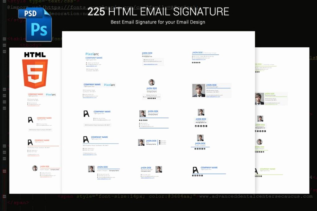 Html Email Signature Template Beautiful 10 Email Signature Template for Unique Identity HTML and
