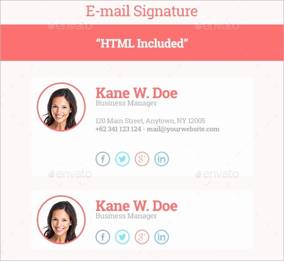 Html Email Signature Template Beautiful Free 13 Email Signatures In HTML Shop