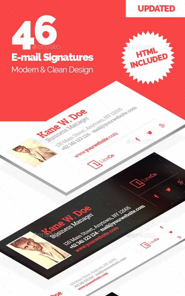 Html Email Signature Template Best Of 20 Best Email Signature Templates Psd & HTML Download