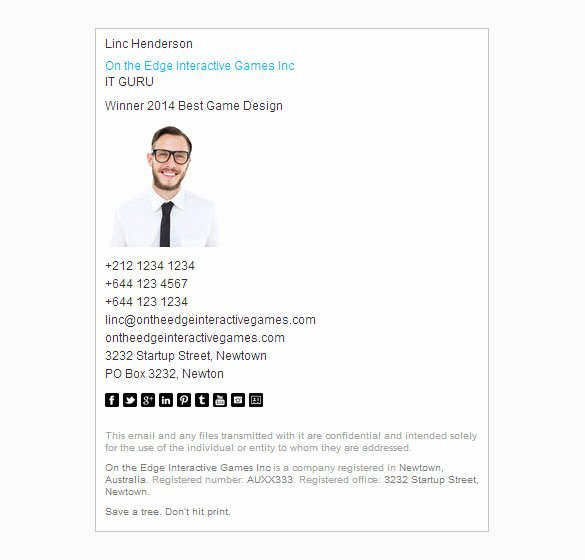 Html Email Signature Template Best Of Email Signature Template