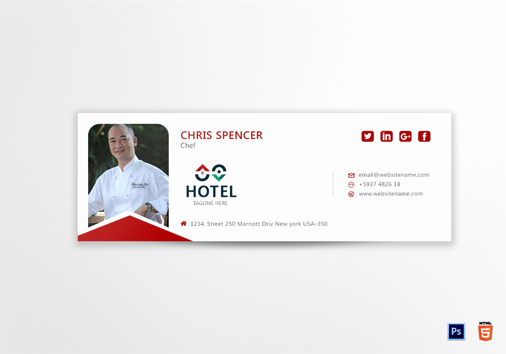 Html Email Signature Template Elegant Chef Email Signature Design Template In Psd HTML