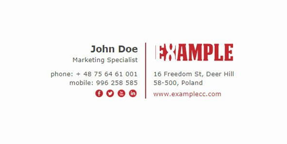 Html Email Signature Template Elegant top 3 Professional Free Email Signature Templates