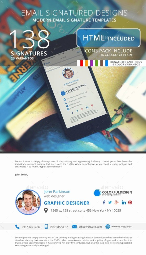 Html Email Signature Template Inspirational 20 Best Email Signature Templates Psd & HTML Download