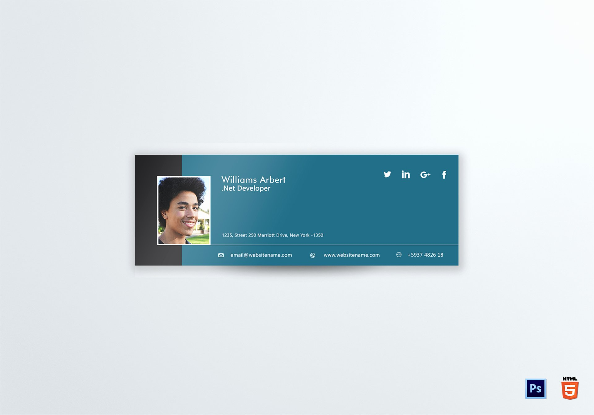 Html Email Signature Template Lovely Net Developer Email Signature Design Template In Psd HTML