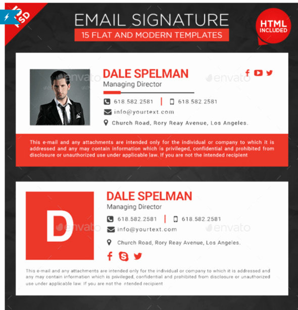 Html Email Signature Template New 20 Best Email Signature Templates Psd & HTML Download