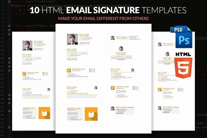 Html Email Signature Template Unique 17 Business Email Signature Templates Editable Psd Ai