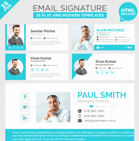 Html Email Signature Template Unique 20 Best Email Signature Templates Psd & HTML Download