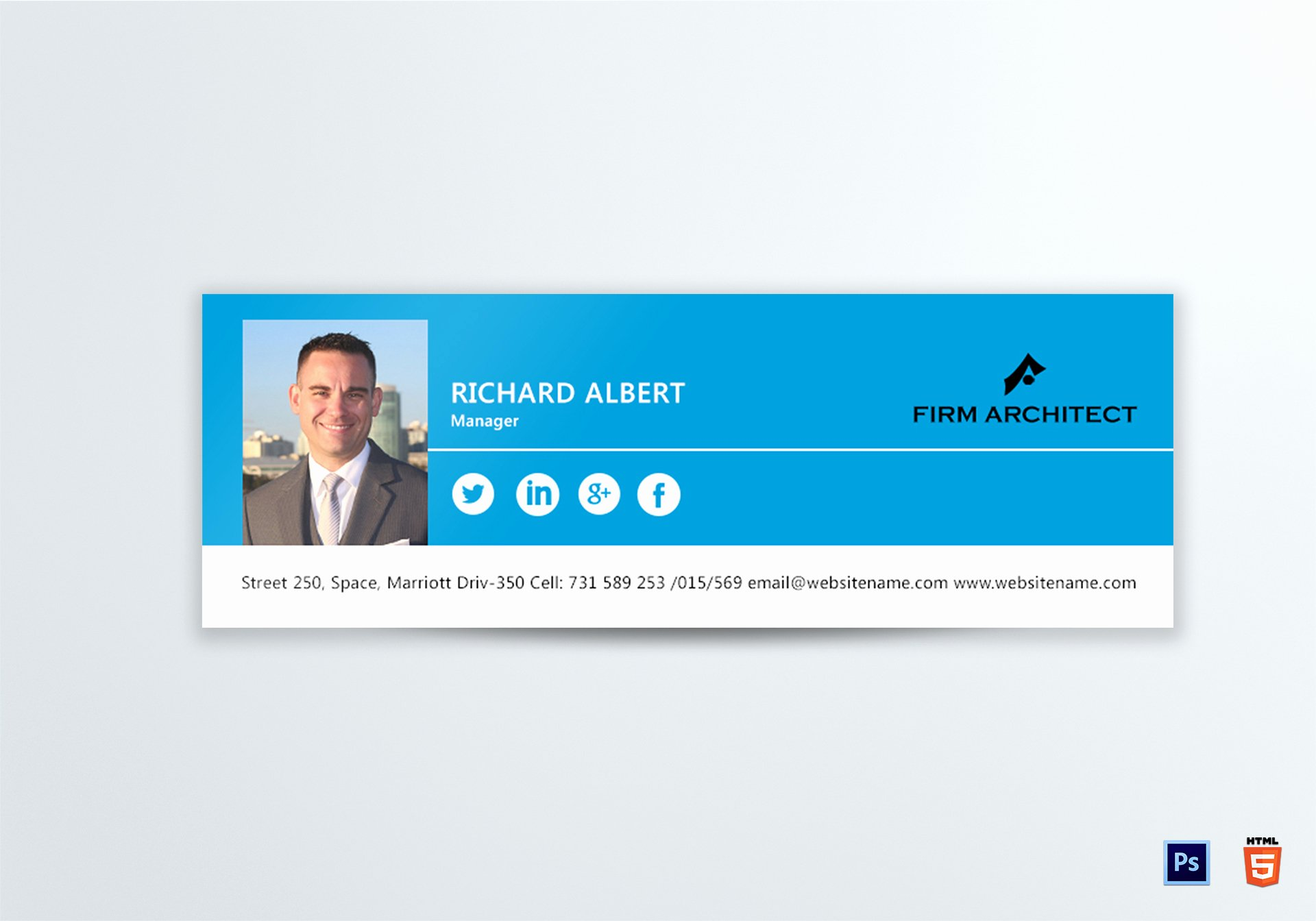 Html Email Signature Template Unique Design Architect Email Signature Design Template In Psd HTML