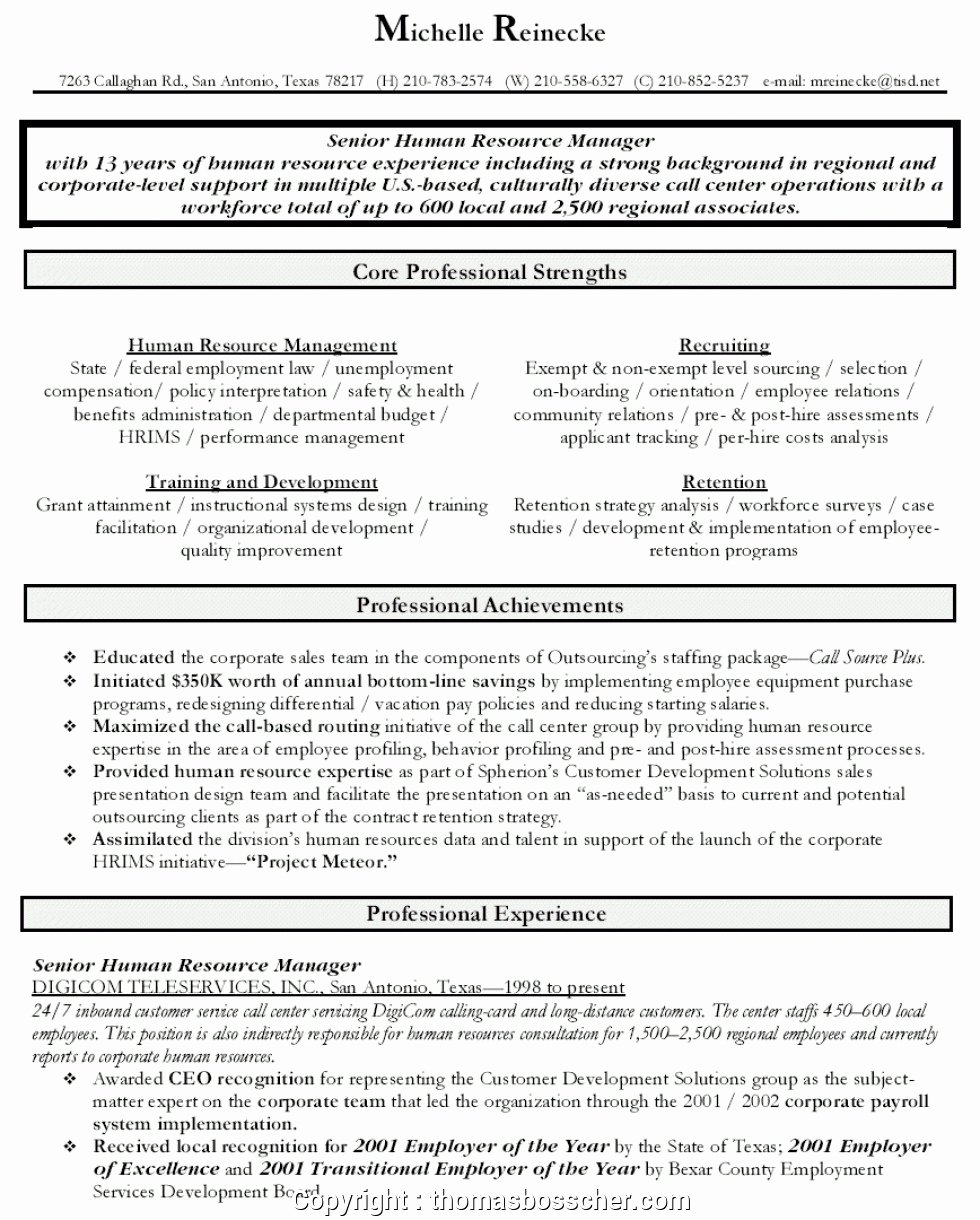 Human Resources Manager Resume Awesome Simply Human Resources Manager Resume Profile Freen