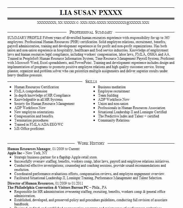 Human Resources Manager Resume Elegant Human Resources Manager Resume